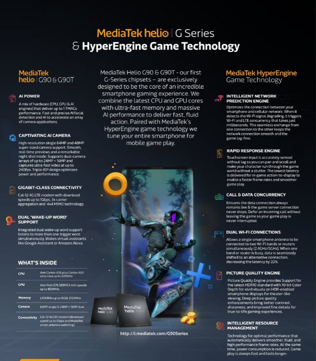 MediaTek Launch Helio G90 & G90T Gaming Chipsets, Support 64MP